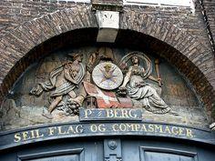 Building detail, Copenhagen, Denmark.