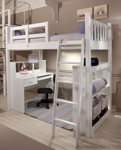 Hammond Kids Three Quarter Loft Bed