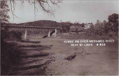 Steiny's Inn Resturant and bridge leading into Times Beach, Missouri.