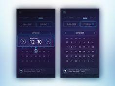 Ical Pad App, Calendar Ui, Ios Ui, Ui Elements, Ui Inspiration, User Interface Design, Ui Ux Design, Design Patterns, Mobile Design