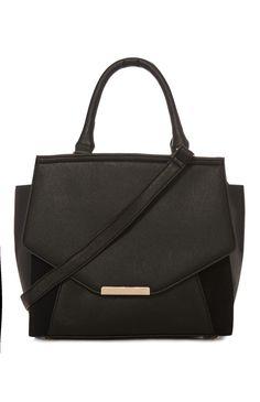 Primark - Zwarte schoudertas met belijning