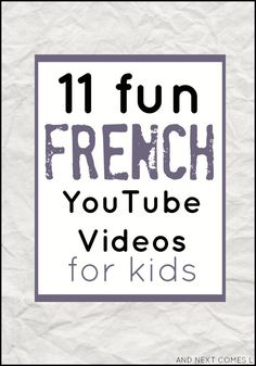 11 fun french your tube videos for kids Francais I Study French, French Kids, Core French, Learning French For Kids, Ways Of Learning, French Language Learning, Learning People, French Games For Kids, French Language Lessons