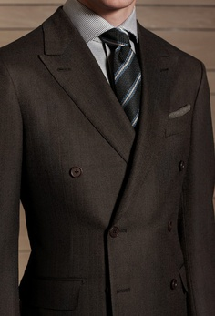 Grey herringbone jacket and waistcoat, from Tweed Addict, London ...