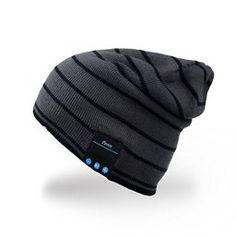 Mydeal #Bluetooth #Hat #Adult Unisex #Trendy #Soft Warm #Knit Slouchy #Beanie #Skully Hat with #Wireless #Headphone #Headset #Speaker Mic #Hands-free, #Christmas Gift for #Winter #Outdoor #Sport #Skiing #Snowboard – #Gray