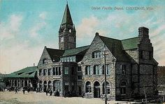 Cheyenne Wyoming WY 1908 Union Pacific Railroad Depot Antique Vintage Postcard