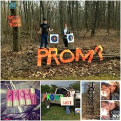 Prom Proposal Hunting Promposal Idea Improving You Prom Pictures Couples, Prom Couples, Cute Couples, Sweet Couples, Funny Proposal, Dance Proposal, Cute Prom Proposals, Homecoming Proposal, The Knot