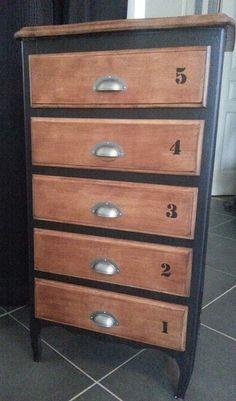 Vends chiffonnier bois avec 5 tiroirs : Meubles et rangements par by-eslv