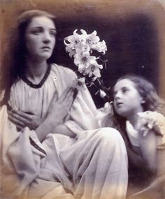 Julia Margaret Cameron :: A Study after the manner of Francia. Models :: Mary Ryan and Elizabeth Keown, albumen print, 1865