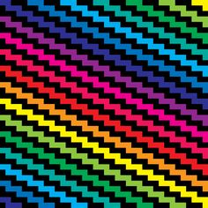One basic pattern, one spectrum of basic color gradient, endless arrangements to create unique beautiful patterns. 6 of 28.