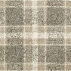 Grey & Beige Tartan Castle Wilton Carpet