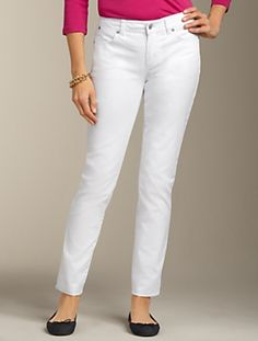 Signature Fit White Denim Ankle Jean.  Can't go wrong with a white jean!