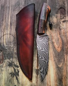 "1,406 Likes, 81 Comments - Marc Weinstock - Knifemaker (@marcweinstock) on Instagram: ""Fighter II with leather sheath all done and ready to go. Slow twist blade with snakeskin sycamore…"""