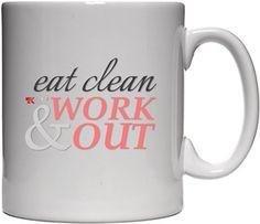 Tony Karen Hill - Eat Clean - Kendin Tasarla - Beyaz Kupa