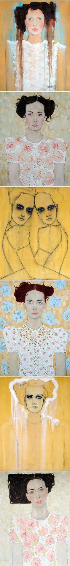 Ryan Pickart - love these portraits - especially the rectangular hair.