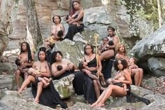 Moms of the Chocolate Milk Mommies group nursed their babies in a photoshoot to normalize breastfeeding among Black women Breastfeeding Photography, Breastfeeding Photos, Breastfeeding In Public, Breastfeeding Support, Black Mother, Poses, Black Women, Instagram, Mothers