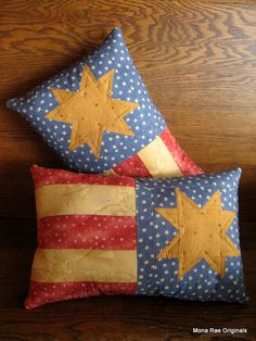 Patriotic Pillow USA Quilted Flag Pillow by MROriginals on Etsy. $21.99, via Etsy.
