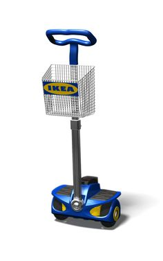Conceptontwikkeling @Rood-Runner: de Robin-M1 voor het makkelijk vervoeren van werknemers én kleine goederen op de IKEA-werkvloer, in (huis)stijl!