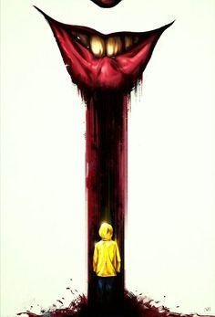IT Clown Horror, Arte Horror, Horror Art, Le Clown, Creepy Clown, Saint Yves, Scary Movies, Horror Movies, Stephen King Clown