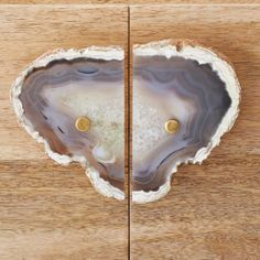 ARE YOU FREAKING KIDDING ME? gorgeous. // agate handles @Elise West elm