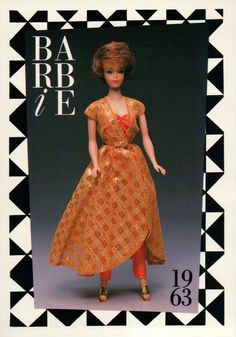 """Barbie Collectible Fashion Trading Card  /"""" Midnite Blue /""""  Ball Gown 1965"""