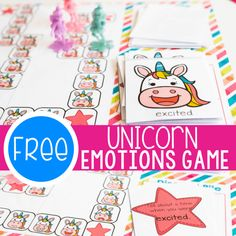 Help your kids learn about emotions with this simple free printable Unicorn Emotions Board Game for kids. Learn about emotions with your preschoolers and kindergarteners. Human Body Activities, Kids Learning Activities, Alphabet Activities, Hands On Activities, Kindergarten Activities, Preschool Activities, Preschool Board Games, Board Games For Kids, Candyland Board Game