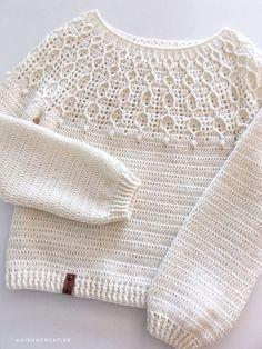 Crochet Case, Crochet Stitches, Knit Crochet, Crochet T Shirts, Crochet Baby Clothes, Crochet Cardigan Pattern, Crochet Blouse, Crochet Woman, Crochet Fashion