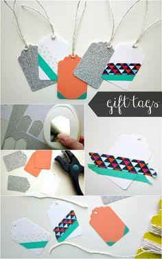 #papercraft #washi tape ideas Washi Tape Gift Tags