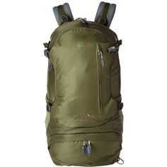 Jack Wolfskin ACS Hike 24 Pack (Khaki) Backpack Bags ($100) ❤ liked on Polyvore featuring bags, handle bag, padded bag, zip handle bags, shoulder strap bags and jack wolfskin