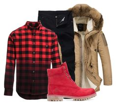 """""""Untitled #417"""" by beautifully-ambitious on Polyvore featuring Woolrich, Timberland, men's fashion and menswear"""
