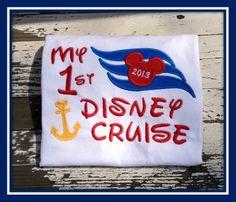 Short Sleeve First Disney Cruise Shirt