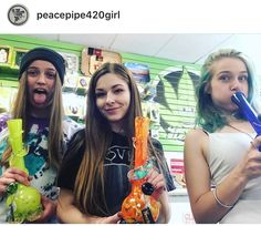 ❤️ REPOSTING The Peace Pipe in #Ontario #Canada check them out!  They just got a fresh batch of Noble Glass! ==••••=> @peacepipe420girl: It's WACKY WEDNESDAY in the oshawa shop with Alex, Jade and Jessi! Go see them for a sweet new @nobleglass #thepeacepipe #puffbuff #girlswhosmoke #guyswhosmoke #smokeweedeveryday #weed #420 #cannabis #canadianstoners #comegetsome #stonersociety #prettypotheads #cannabiscuties #thc #getlifted #staylifted #hightimes #toke #ganja  #Canadian #smokeshop…