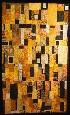Klimt inspired. Love the use of color, quilting, etc. And anyone who knows me, knows I don't usually work with yellows.