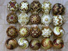 Kompletná vianočná kolekcia - technika falošného patchworku Christmas derocation - hand made christmas balls
