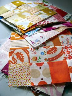 Postage stamp quilt blocks