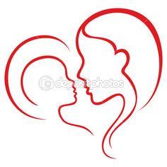 Amor de maternidade — Ilustração de Stock #10055532