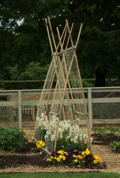 It's impossible to come away from a visit to Longwood Gardens without some serious inspiration. Check out these interesting ideas for trellising veggies with humble materials. Time to dig out...