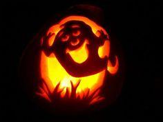 halloween ghost pumpkin Carving design 30+ Best Cool, Creative & Scary Halloween Pumpkin Carving Ideas 2013