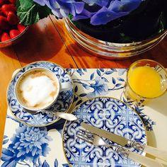 Mesa de café da manhã Porcelana Transatlântica Vista Alegre www.matissecasa.com.br