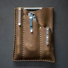 Leatherman And Flashlight Pocket Sheath Leather