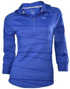8% Off was $65.00, now is $59.98! NIKE Women's Dri-Fit Half Zip Pull Over Running Hooded Shirt