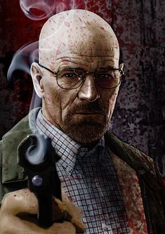 Walter White ~ Breaking Bad-- best character transformation ive seen in a while! Breaking Bad Series, Breaking Bad Art, Jesse Pinkman, Walter White, Aaron Paul, Bryan Cranston, Series Movies, Tv Series, Braking Bad