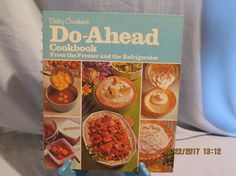 Vintage Betty Crocker's Cookbook: Do-Ahead 1974