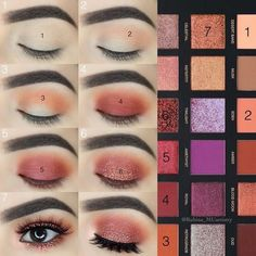 52 Natural Eye Makeup Step By Step For Beginners – – Make Up Time Natural Eye Makeup Step By Step, Eye Makeup Steps, Simple Eye Makeup, Natural Makeup, Huda Beauty Eyeshadow Palette, Makeup Palette, Eyeshadow Makeup, Eyeshadows, Huda Palette