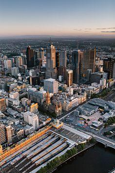 Melbourne City Sunrise via http://melbournestreet.net/2015/02/03/melbourne-city-sunrise/