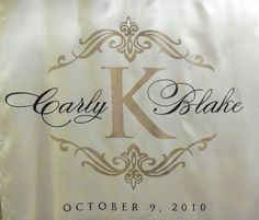 Monogram Fabric Aisle Runner Wedding by exclusiveelements on Etsy
