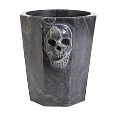 "Haute Halloween! This statement-making bubbly bucket is hand-carved from solid black marble.  9""H x 9½""diameter Marble Hand wash Imported"