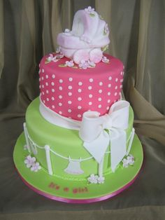 girl  baby shower ideas | It's A Girl Baby Shower Cake | Sweet Discoveries