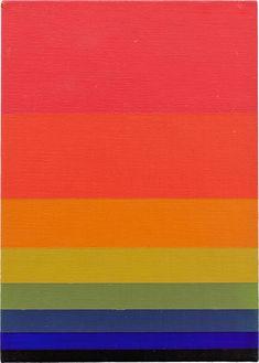 "Norman Zammitt. ""Red to Green I,"" 1979 acrylic on canvas board"