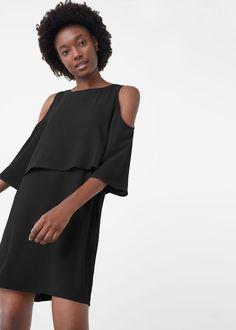 Vestido off shoulder - Vestidos de Mujer   MANGO España