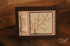 Stampin' Up! card easter blossoms